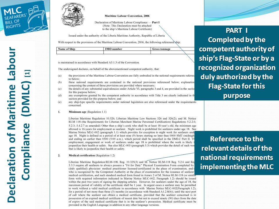 Declaration of Maritime Labour Compliance (DMLC) [1]